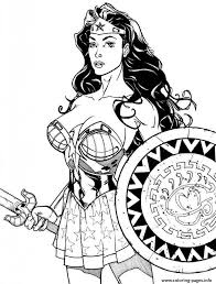 wonder woman power coloring pages printable