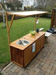 fabriquer cuisine exterieure cuisine exterieure bois fabriquer cuisine exterieure en bois