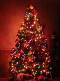christmas christmas tree with lights splendi the thomas kinkade