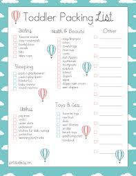College Toiletries Checklist Free Toddler Travel Packing List Packing Checklist Free