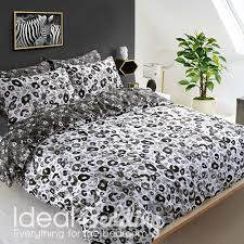 Leopard Print Duvet Grey Leopard Animal Print Duvet Set And Pillowcase Bedding Set