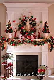 Tall Christmas Decorations For Mantle by Best 25 Diy Christmas Mantel Garland Ideas On Pinterest