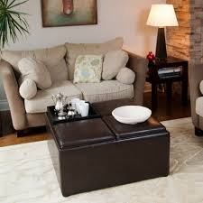 Square Ottomans With Storage by Coffee Table Square Ottoman Coffee Table Top Grain Leather Living