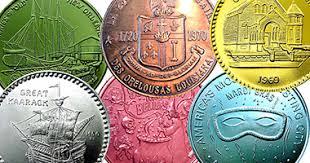 mardi gras deblume coin value token us mardi gras doubloons