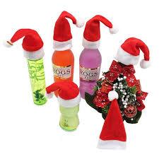 santa hats 10pcs christmas mini santa hat cup hat 6 2 cm mini bottle cap wine