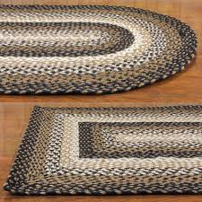 Jute And Wool Rug Stallion Jute Braided Rugs Primitive Home Decors
