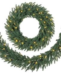 lake forest fir led wreath and garlands tree classics