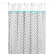 Gray And Turquoise Curtains Buy Turquoise Fabric Shower Curtain From Bed Bath Beyond