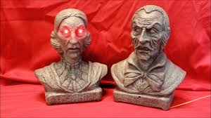mini animated interactive talking busts halloween prop demo youtube