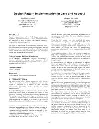 design pattern implementation in java and aspectj pdf download