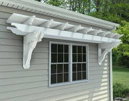 eyebrow pergola kits wall mount vinyl eyebrow breeze wall mount