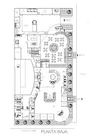 businesses hotel lodging house accommodation 2d dwg plan for