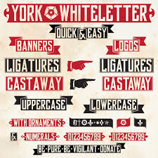 cara membuat poster manual york whiteletter font dafont com