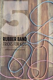 three card trick wedding band 5 rubber band tricks for kids all for the boys