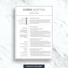 modern resume template free etsy cv template free modern resume for word minimalist design 2