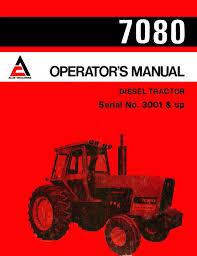 allis chalmers 7080 diesel tractor operator u0027s manual