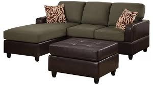 Sectional Couch With Ottoman by Bobkona Manhattan Reversible Microfiber 3 Piece Sectional Sofa