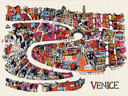 venice map a map of venice hymas