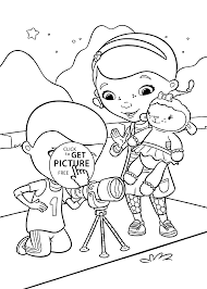 coloring pages for kids printable free doc mcstuffins disney