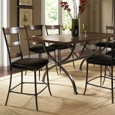 hillsdale cameron dining table hillsdale cameron 7 piece counter height rectangle wood dining table
