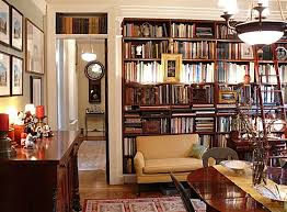 decor new york apartment style decorating book shelves library