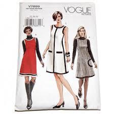 vogue vintage sewing pattern v7899 u2013 dress and jumper u2013 size 12 14