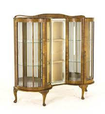 antique curio cabinet with curved glass antique curio cabinet art deco cabinet curved glass scotland