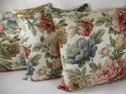 Shabby Chic Cushions Uk by Red Blue Rose Country Shabby Chic Floral Cushion