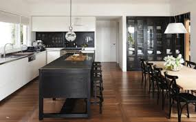 white kitchen black island white kitchen with black island bench on we it