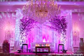 Floral Decor Indian Weding Reception Stage Pink Floral Decor In Rockleigh New