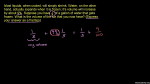 rational number word problem ice video khan academy