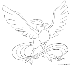 144 articuno pokemon coloring pages printable