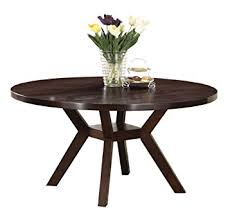 Amazoncom Acme  Drake Espresso Round Dining Table Inch - Espresso dining room set