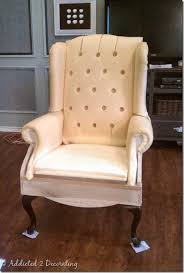 How To Reupholster A Wingback Armchair Removing Some Of The Mystery From Upholstery And Button Tufting