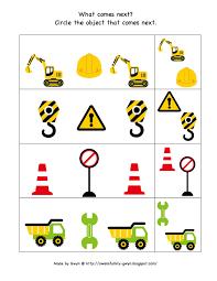 construction zone printable preschool printables