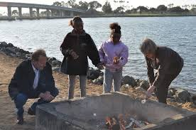 Beach Fire Pit by San Diego Community News Group Fire Pit Funding Restored To City