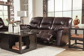 Espresso Bedroom Furniture Sets Ashley Faux Leather Contemporary Reclining Sofa By Signature Design By
