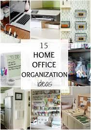 Office Space Organization Ideas Organizing Home Office Interior Design