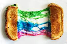 how to make a rainbow grilled cheese sandwich