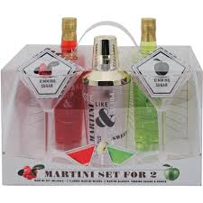 martini gift basket coastal cocktails martini set for two gift set 7 pc