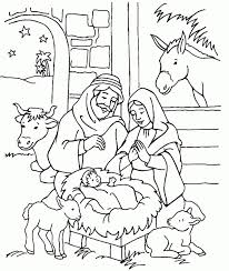 coloring pages of jesus birth story christmas bible story coloring