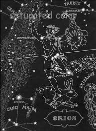 Map Of The Stars Orion The Hunter Night Sky Star Chart Map Southern Stars