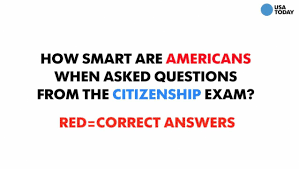 Wildfire Test Questions by Poll Explores Whether Americans Know Enough To Pass Citizenship Test