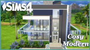 modern house building the sims 4 cosy modern house build youtube