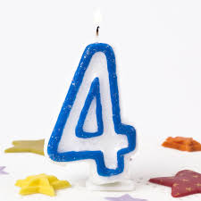 number birthday candles blue number 4 birthday candle only 59p