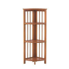 Walnut Ladder Bookcase Wood Bookcases Home Office Furniture The Home Depot