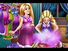 barbie princess rapunzel pregnant barbie cartoon games movie