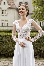 chiffon wedding dress most popular lace chiffon bridal dress appliques side slit
