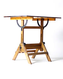 Wood Drafting Table Flux Vintage Early Hamilton Economy Wood Drafting Table