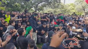 12th annual ashura australia procession walk 2015 sydney hyde